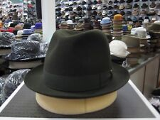 BORSALINO OLIVE GREEN FUR FELT DRESS HAT (READ DESCRIPTION FOR SIZE)