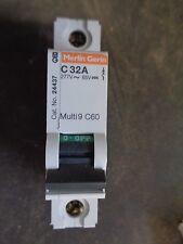 New Square D Mg24437 C60N 32 Amp 1 Pole 277V 50/60Hz Circuit Breaker
