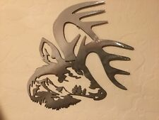 Plasma cut Deer head with Deer scene metal Wall Decor