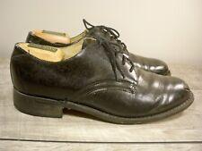 Vintage Navy Oxford Black Leather Lace Up Deck Delivery Men's Dress Shoes Size 8