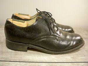 Vintage Navy Oxford Black Leather Uniform Deck Service Men's Dress Shoes Size 8
