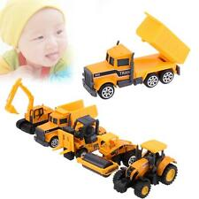 5 × Mini Excavator Construction Tractor Model Set Car Toys For Baby Kid Children