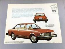 1974 Fiat 124 Sport Coupe Original 1-page Car Brochure Card