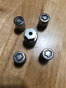 Honda OEM Wheel Lock set (USED) 14x1.5 McGard Chrome