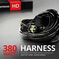 12V 40A LED Work Fog Light Bar Wiring Harness Relay Kit ON/OFF Switch Off Road 9