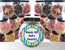 FATHER'S DAY PRESENT - PERSONALISED GIFT JAR OF PICK AND MIX SWEETS