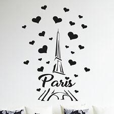 Paris Francia Torre Eiffel Love arte de pared calcomanía Decoración pegatina de vinilo Mural