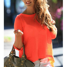 Backless Summer Fashion Women Casual Long Sleeve Shirts Chiffon Blouses Top EV