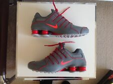 classic fit b8cbb 46e5f NIKE ID SHOX NZ TRAINERS UK 7.5 US 8.5 EUR 42 MENS GREY RED LEATHER TL