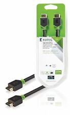 Konig High Speed HDMI Cable with Ethernet HDMI to HDMI Connector 2m grey
