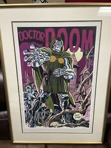 Doctor Doom Serigraph Print Jack Kirby Signed Limited 169/ 250
