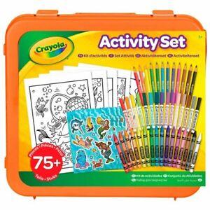 Plastic Crayola Activity Set & Carry Case Great Arts & Crafts Set For Kids 75pc.