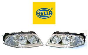New! Volkswagen Pair Set of Left and Right Halogen Headlights Hella