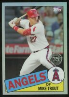 2020 Topps Chrome Mike Trout 1985 Topps Insert Angels