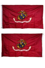 3x5 Embroidered USMC Marines Marine Semper Fi Double Sided 2ply 300D Nylon Flag