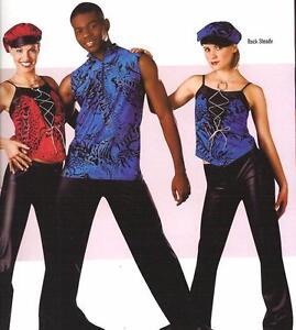 Rock Steady Dance Costume Girls RED Version Pants & Top Tap Child Medium New