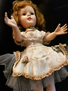 """Lovely Very Old Prototype 14"""" Hard Plastic Mary Hoyer Unmarked Doll, Head Moves"""