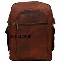 Genuine  School Bag  Superior Quality Goat Leather Messenger Backpack Rucksack