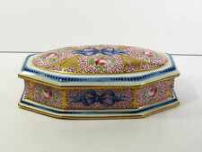 ARTIST SIGNED CID/DECOR MAIN LIMOGES M. CAPPEZAT DOMED COFFIN DRESSER BOX
