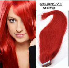 20-60Ps Tape in Remy Human Hair Extensions Virgin Ombre PU Skin Weft Full Head