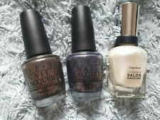 Nail Varnish Bundle OPI and Sally Hansen Glitter Pearlescent Limited Edition