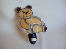 VINTAGE SLAG / STAIN GLASS OUTLET WALL LIGHT BEAR FIGURE