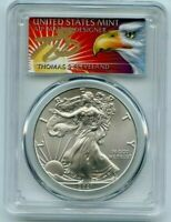2021 ASE S1 PCGS MS70 FS 1 of 1000 Thomas Cleveland Eagle Label 1oz Silver Coin