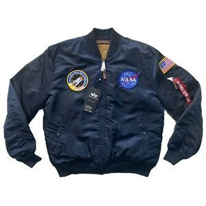Alpha Industries MA-1 VF NASA Jacket In Rep Blue Size 2XL