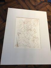 "Original 1970 Modern artist SALVADOR DALI art ENGRAVING ""Autumn"""