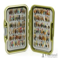 "Waterproof Fly Box + Assorted Mixed ""Winged Wet Flies"" for Trout Fly Fishing"