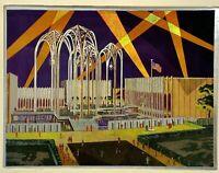 Etched Aluminum Foil Art Print Seattle Worlds Fair 1962 Science Pavilion FEPEG