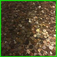 ✯TEN 10 LB POUNDS FOREIGN & TOKEN MIXED COINS ✯ OLD UNSEARCHED WORLD LOT SILVER✯
