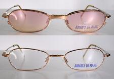 Size Large ARMATA DI MARE Bronze Eyeglass Frames w/ MAGNETIC CLIP-ON SUNGLASSES