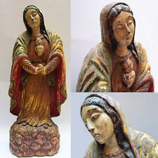 Exceptionnelle Authentique Vierge indo-portugaise 18e Sculpted Virgin India Goa