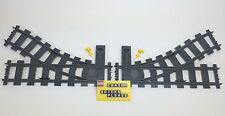 New Lego City train curved split Track lot of 2. 1 Left + 1 Right + 2 Switches