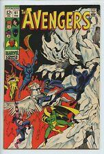 1969 MARVEL THE AVENGERS #61 DR. STRANGE & BLACK KNIGHT APPEARANCE VF/NM   S1