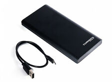 PORTABLE 10000mAh SLIMLINE BATTERY CHARGER POWER BANK USB FOR iPhone SAMSUNG HTC