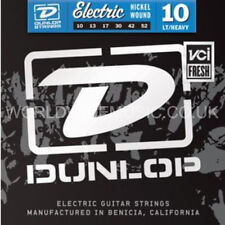 DUNLOP cordes pour guitare électrique jauge lourd lumière.010 -.052 plaie de nickel 10-52