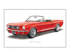 Ford Mustang GT - Limited Edition Classic Car Print Poster by Steve Dunn