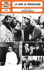 FICHE CINEMA : LA LIGNE DE DEMARCATION - Seberg,Ronet,Audran,Chabrol 1966