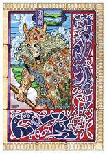 CELTIC IRISH ART PRINT Streng Champion of the Fir Bolg 23x16 By Jim FitzPatrick