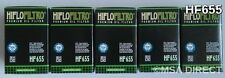 KTM 450 SMR (2013 to 2014) HifloFiltro Oil Filter (HF655) x 5 Pack