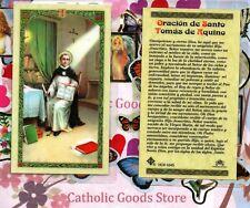 Oracion de Santo Tomas de Aquino - Spanish - Laminated Holy Card