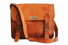 """Women's 11"""" 13"""" 15"""" Vintage Leather Handbag Shoulder Satchel Messenger Bag"""