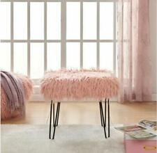 Norden Home Anley Dressing Table Stool Pink