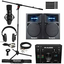 Home Studio Recording M-Audio Air 192 Pro Interface Mic Headphones & Speakers