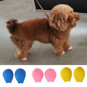 4PCS Anti-slip Rubber Pet Rain Boots Balloon Pet Puppy Dog Walk Waterproof Shoes