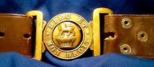 Victorian (1837-1901) Boer War, British Army Leather Service Belt & Brass Buckle
