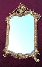 Espejo de pared Dorado Antiguo baño 54x37 Shabby pasillo Barroco c499