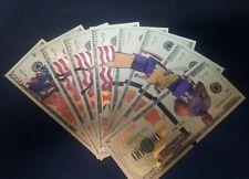 Metal Gold Banknotes Model Kobe Lakers Nba Usa Gold Souvenir Fake Dollars